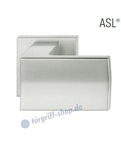 23-0857 rechteckiger Türknopf auf quadratischer Rosette ASL® feststehend in Alu naturfarbig eloxiert von FSB
