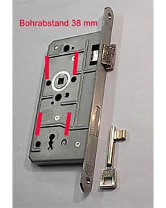 Objektschloß Buntbart mit Metallfalle und Edelstahl-Stulp SSF
