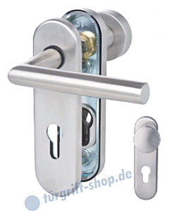 Sicura Kurzschild Ronny Schutzgarnitur PZ 8/72 mm Knopf/Drücker Aluminium F1 Südmetall