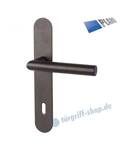 Ronny II-LS PLANO Langschildgarnitur Schwarzstahl-Optik Südmetall