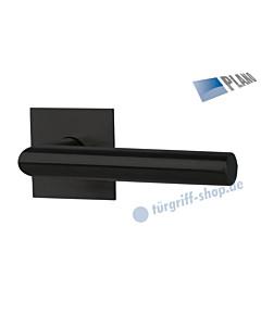 Ronny II Square Solo - R PLANO quadratische Rosettengarnitur ohne Schlüsselrosetten blind GK3 schwarz matt Südmetall