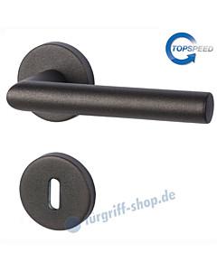 Ronny II-R Rosettengarnitur TopSpeed Schwarzstahl-Optik Südmetall