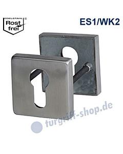 Schutzrosettenpaar Square BASIC ES1 Edelstahl matt von Südmetall