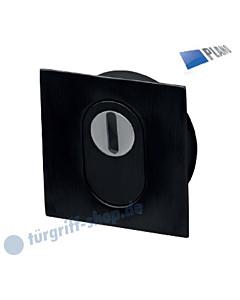 Schutzrosette Plano Square mit KZS 60 x 60 mm schwarz matt Südmetall