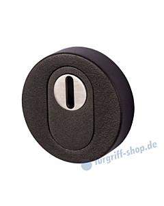 Schutzrosette außen mit Kernziehschutz Schwarzstahl-Optik Südmetall