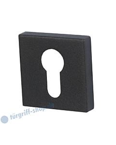 Schutzrosette Square für außen, PZ-Lochung, Schwarzstahl-Optik  Südmetall