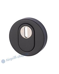 Schutzrosette außen mit Kernziehschutz schwarz-matt Südmetall