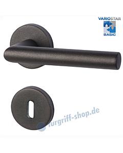 Ronny II-R Rosettengarnitur Basic Schwarzstahl-Optik Südmetall