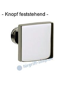 Knopf 373-508 feststehend, ungebohrt 50 x 50mm in Chrom oder Velourschrom Jatec
