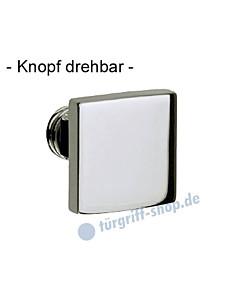 Knopflochteil 373-508 drehbar 50 x 50 mm, 8 mm Vierkantaufnahme, Chrom oder Velourschrom Jatec