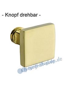 Knopflochteil 373-508 drehbar 50 x 50 mm, 8 mm Vierkantaufnahme, Ultra Messing Jatec