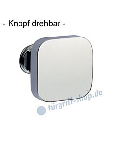 Knopflochteil 375-508 drehbar 50x50mm, 8mm Vierkantaufnahme Chrom Jatec