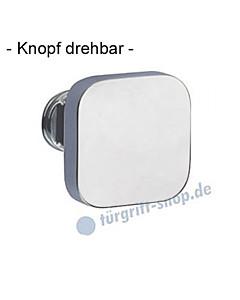 Knopflochteil 375-508 drehbar 50x50mm, 8mm Vierkantaufnahme Velourschrom Jatec