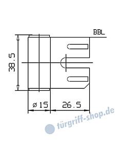 Rahmenteil 400/004/000/999 für Stahlzarge für 3-teiliges Glastürband von JTC