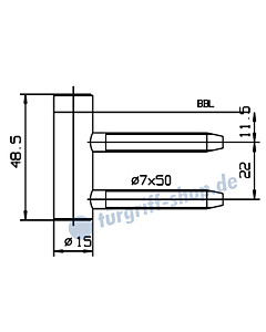Rahmenteil 400/005/100/999 für Holzzarge für 3-teiliges von Glastürband JTC