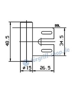 Rahmenteil 400/005/001/999 für Stahlzarge für 3-teiliges Glastürband von JTC