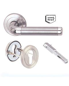 Haustür-Innendrücker Set Sybille-R Profilzylinder von Südmetall