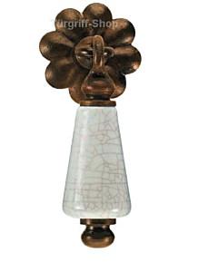 Möbelknopf/-pendel Prag Porzellan krakeliert von Galbusera