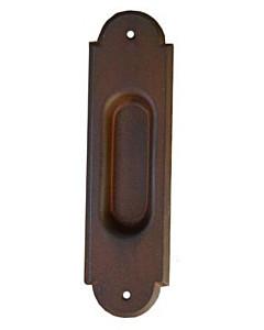 Schiebetürmuschel groß ohne Lochung (blind) antik gerostet von Galbusera