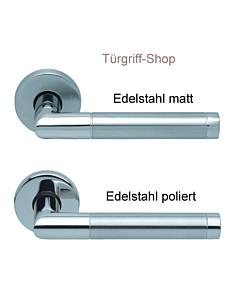 1174 (Chiara) Rosettengarnitur PullBloc Edelstahl von Scoop