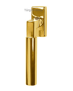 Alaska Square Fenstergriff Robusta Gold (Messing Protec Finish) Südmetall