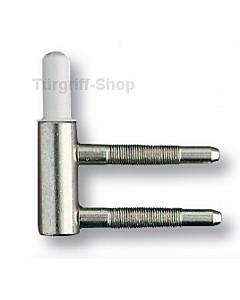 Bandunterteil für Holzzargen für 2-teilige Glastürbänder Südmetall