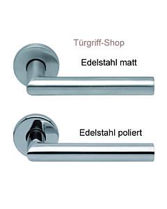1106 (Thema) Rosettengarnitur PullBloc Edelstahl matt o. poliert Scoop