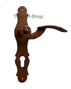 Langschildgarnitur Nr. 1093 Schmiedeeisen rustikal von Galbusera