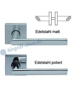 1109 (Jade II) Rosettengarnitur Square PullBloc Edelst. matt o. pol. Scoop