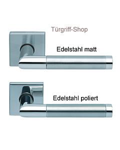 1174 (Chiara) Quadrat-Rosettengarnitur PullBloc Edelstahl matt o. poliert Scoop
