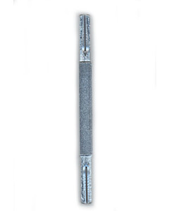 Vierkantvollstift mit Kerbe (Spaltstift) 8 auf 10 auf 8 mm (8/10/8) verzinkt Südmetall