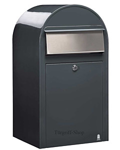 Bobi Grande Stahlblech-Briefkasten mit Edelstahlklappe