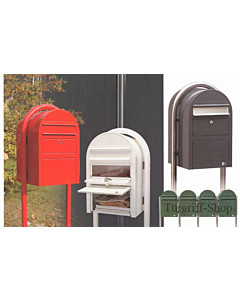 Bobi Swiss Stahlblech-Briefkasten Grau mit Edelstahlklappe