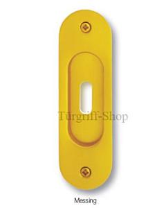 Schiebetürmuschel 0280 mit Schlüsselloch Messing von Südmetall