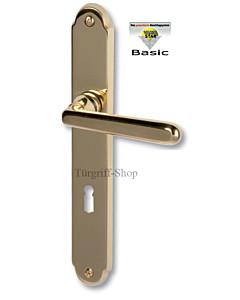 Ramona-LS Basic Langschildgarnitur Messing-poliert Südmetall