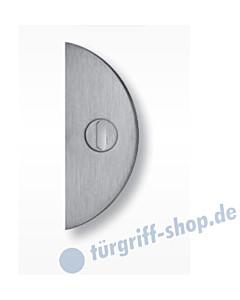 Schutzrosette flach halbrund 60421E4 mit KZS, Stärke 4 mm, Edelstahl matt von Spitzer
