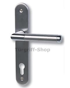 Royal-LS Schmalrahmen Halbgarnitur, PZ 92 mm, Chrom/Edelstahl matt von Südmetall