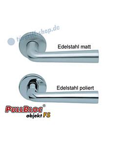 1004 (Jericho) FS Rosettengarnitur PullBloc Edelstahl von Scoop