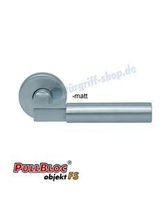 1016 (Bauhaus) FS Rosettengarnitur PullBloc Edelstahl Scoop