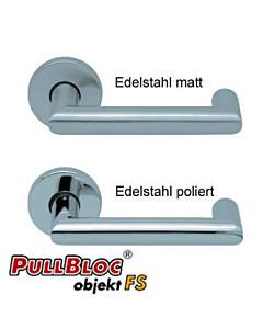 1009 (Thema U) FS Rosettengarnitur PullBloc Edelstahl von Scoop