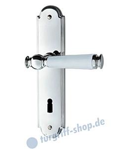 Sanssouci S990 Langschildgarnitur Chrom/Weiss von Jatec
