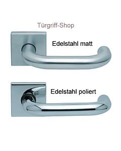 1104 (Ronda) FS Quadrat-Rosettengarnitur PullBloc Edelstahl Scoop