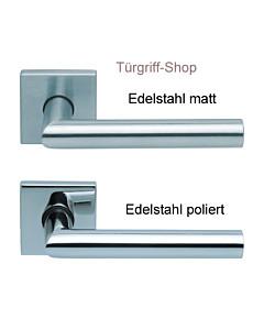 1106 (Thema) FS Quadrat-Rosettengarnitur PullBloc Edelstahl Scoop