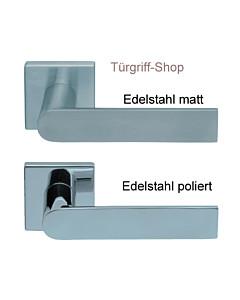 1008 (Semi) FS Quadrat-Rosettengarnitur PullBloc Edelstahl Scoop