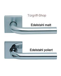 1100 (Image I) FS Quadrat-Rosettengarnitur PullBloc Edelstahl Scoop