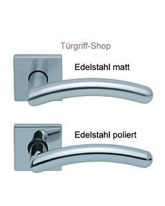 1084 (Prima) FS Quadrat-Rosettengarnitur PullBloc Edelstahl Scoop