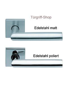 1108 (Jade I) FS Quadrat-Rosettengarnitur PullBloc Edelstahl Scoop