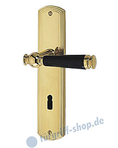 Sanssouci S959 Langschildgarnitur Ultra Messing/Schwarz