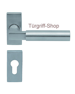 1016 (Bauhaus) Rosettengarnitur PullBloc eckig Edelstahl K4 Scoo