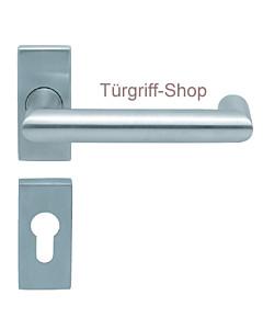 1009 (Thema U) Rosettengarnitur PullBloc eckig Edelstahl K4 von Scoop